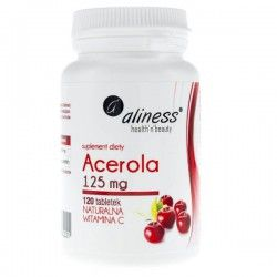 Acerola Natural Vitamin C, 125 mg, 120 tabletas